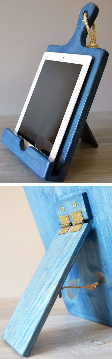 Cutting Board Cookbook Holder Ipad Android Stand