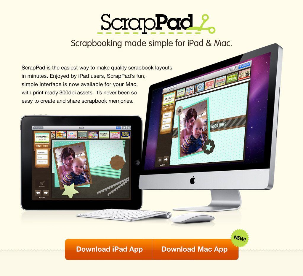 Scrapbooking made simple for ipad mac scrappad