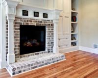 thin brick for around fireplace | ... fireplace mantel ...