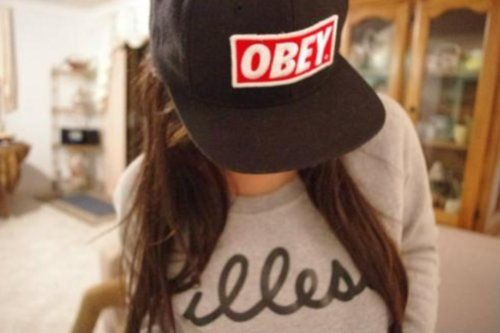 Smiley Girl Wallpaper Swag Girl With Obey Cap
