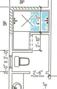 Room for doorless shower here? - Bathrooms Forum ...