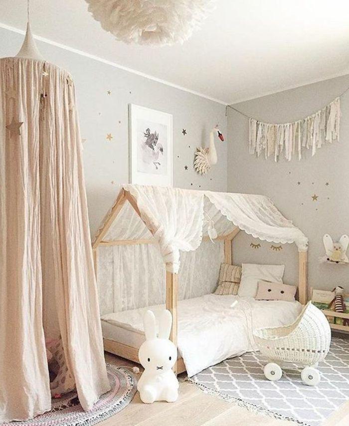 kinderzimmer idee dezente farben und einrichtung weiß für mädchen - babyzimmer madchen und junge
