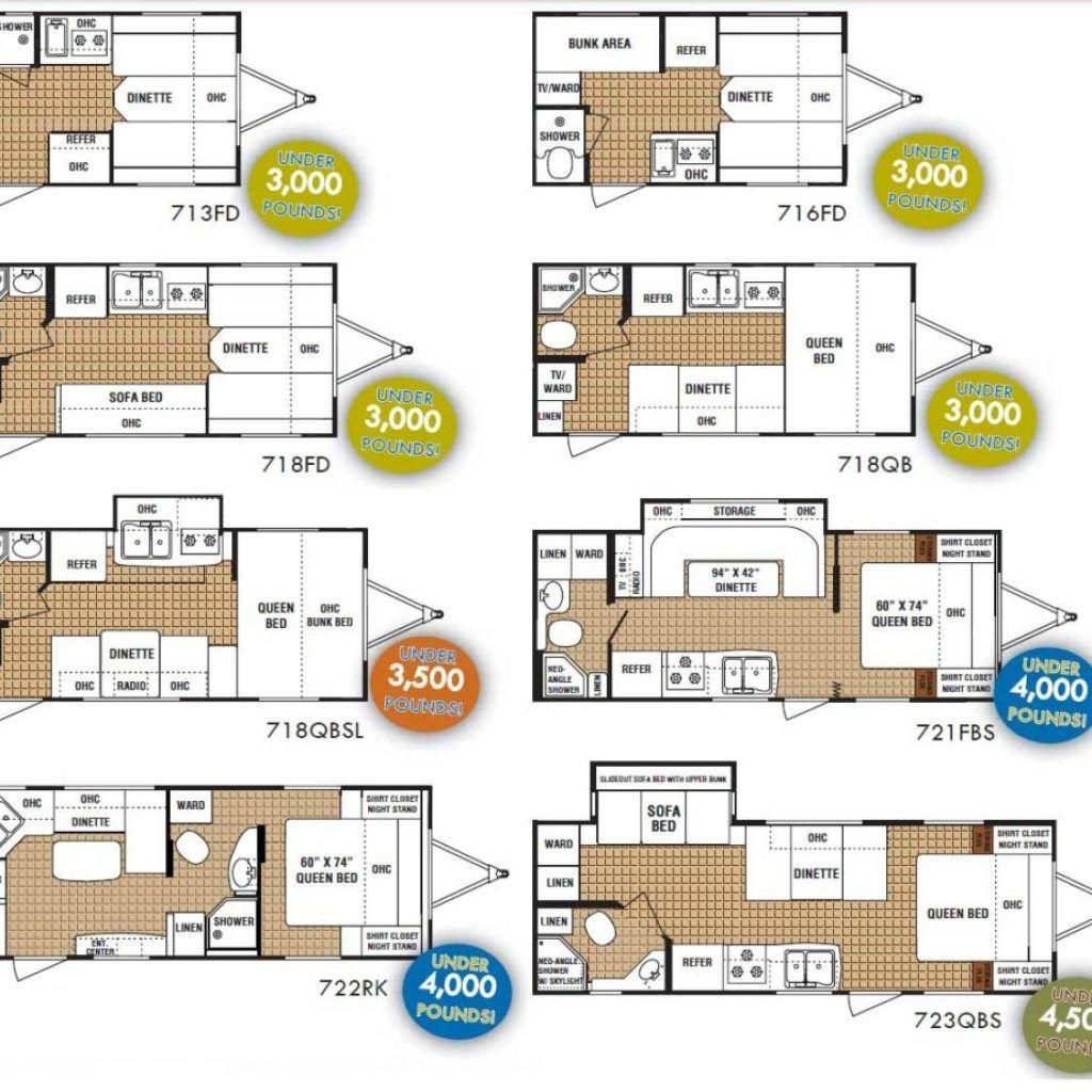 Small rv trailer floor plans