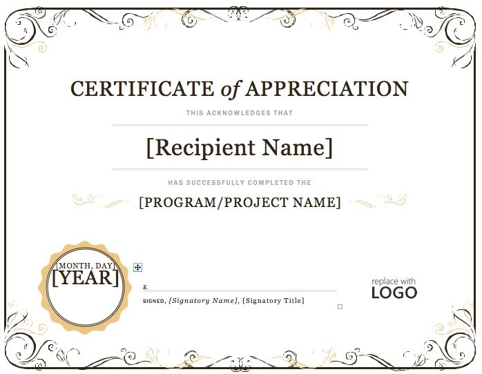 ms word certificate - gerardradio - free certificate of completion template