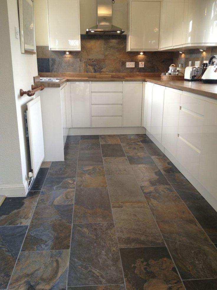 Image result for cream kitchen with black granite worktops chinese - kitchen tile flooring ideas