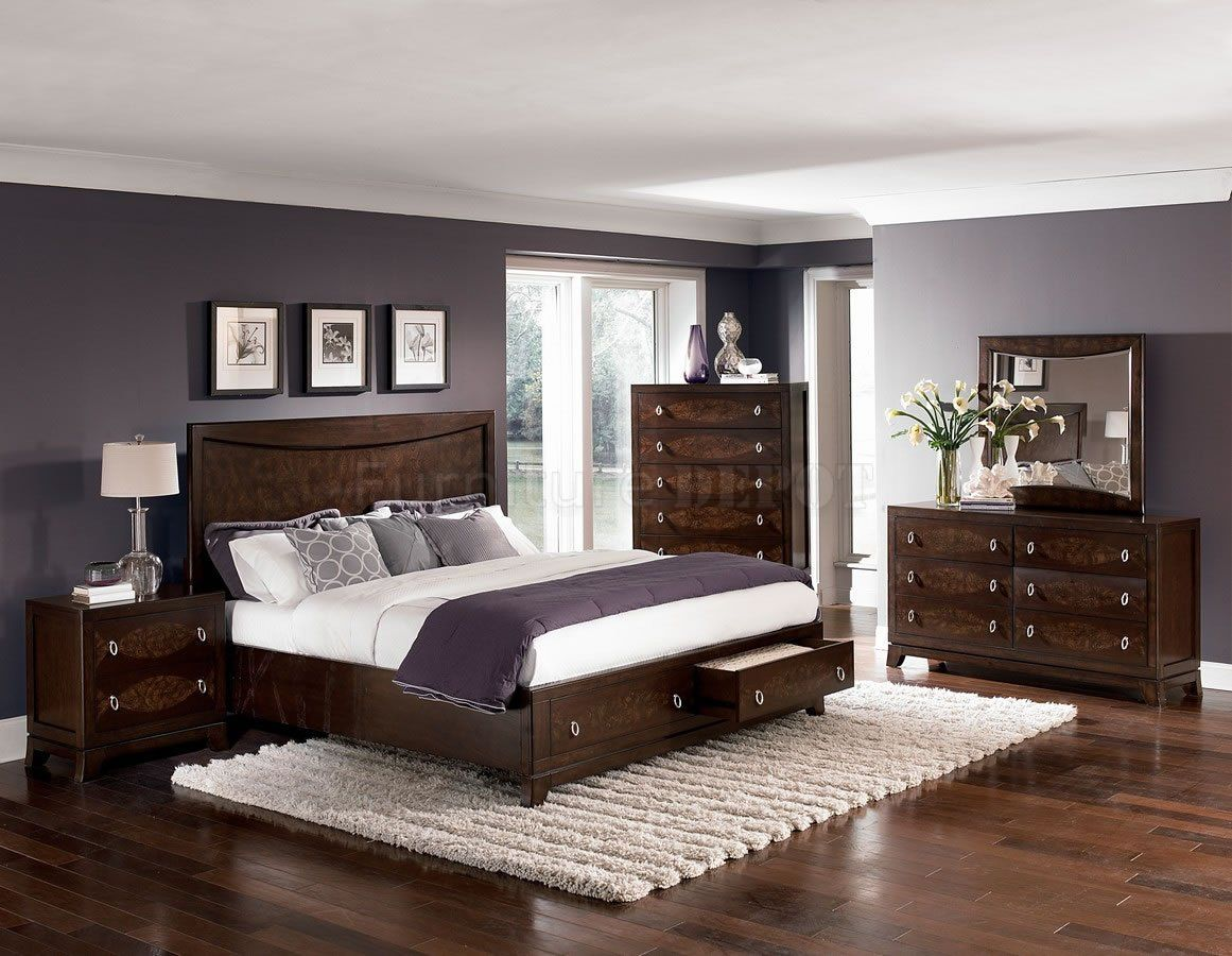 Bedroom paint colors with cherry furniture