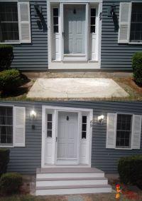 Front door steps home deck remodeling | Jackman Works ...