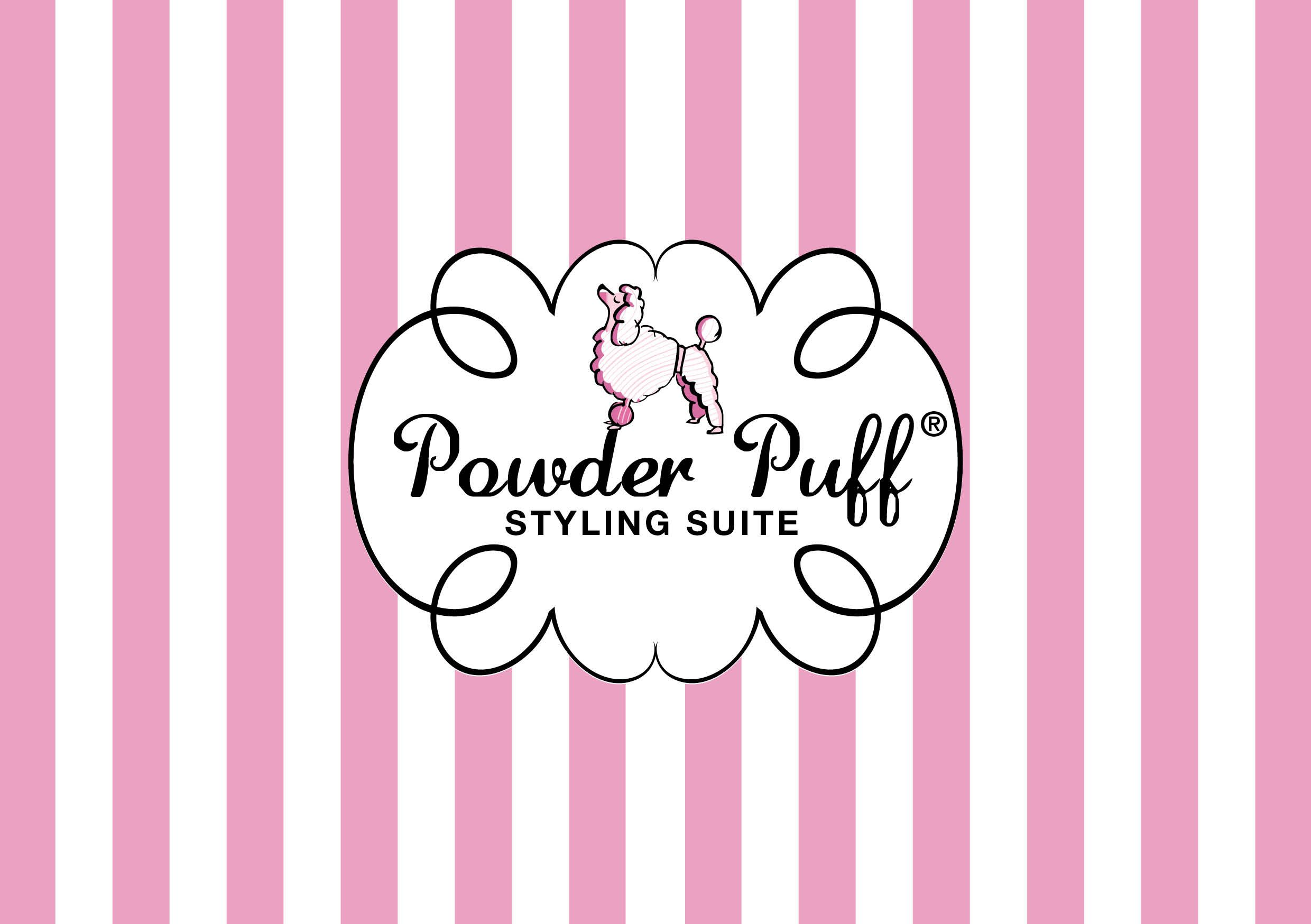 Puff Salon Powder Puff Styling Suite Beauty Salon Logo Design