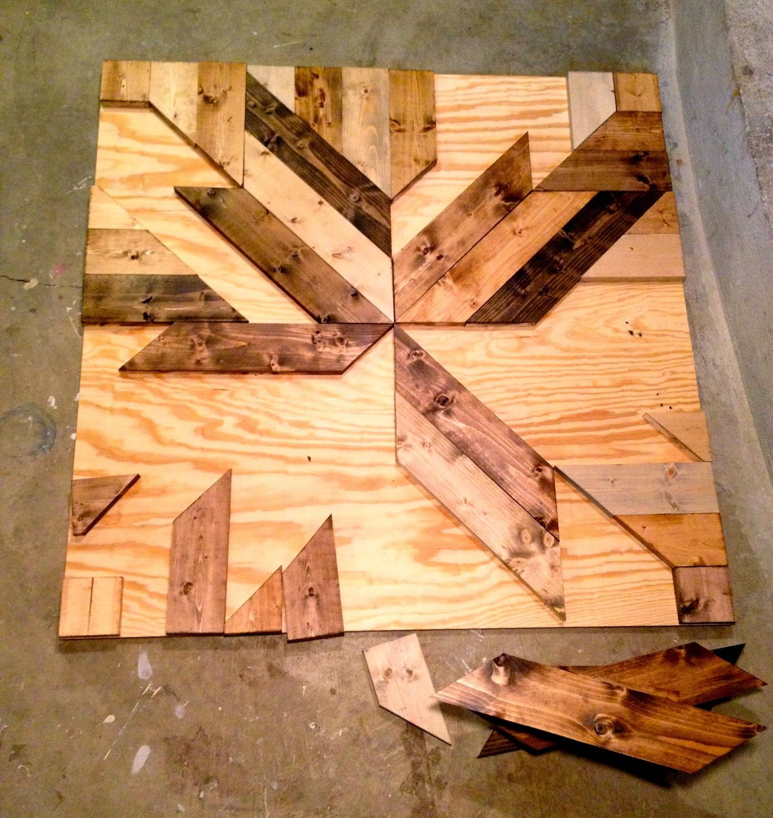 Barn Wood Art Ideas Build Diy Wood Planked Quilt Wall Art Make This Wall