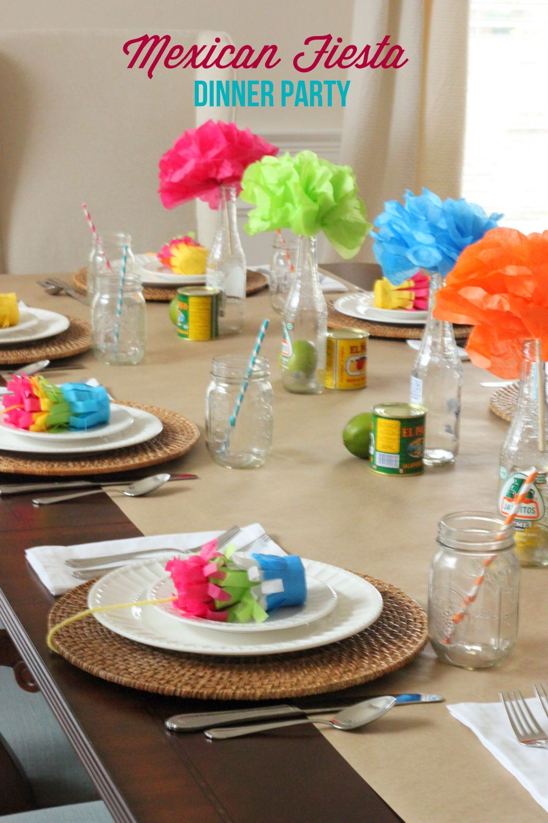 Dinner party ideas mexican fiesta party mirabelle creations