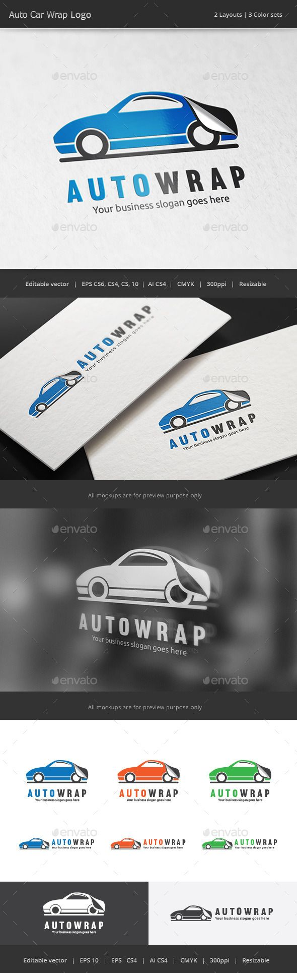 Car sticker wrap logo logo template designeps