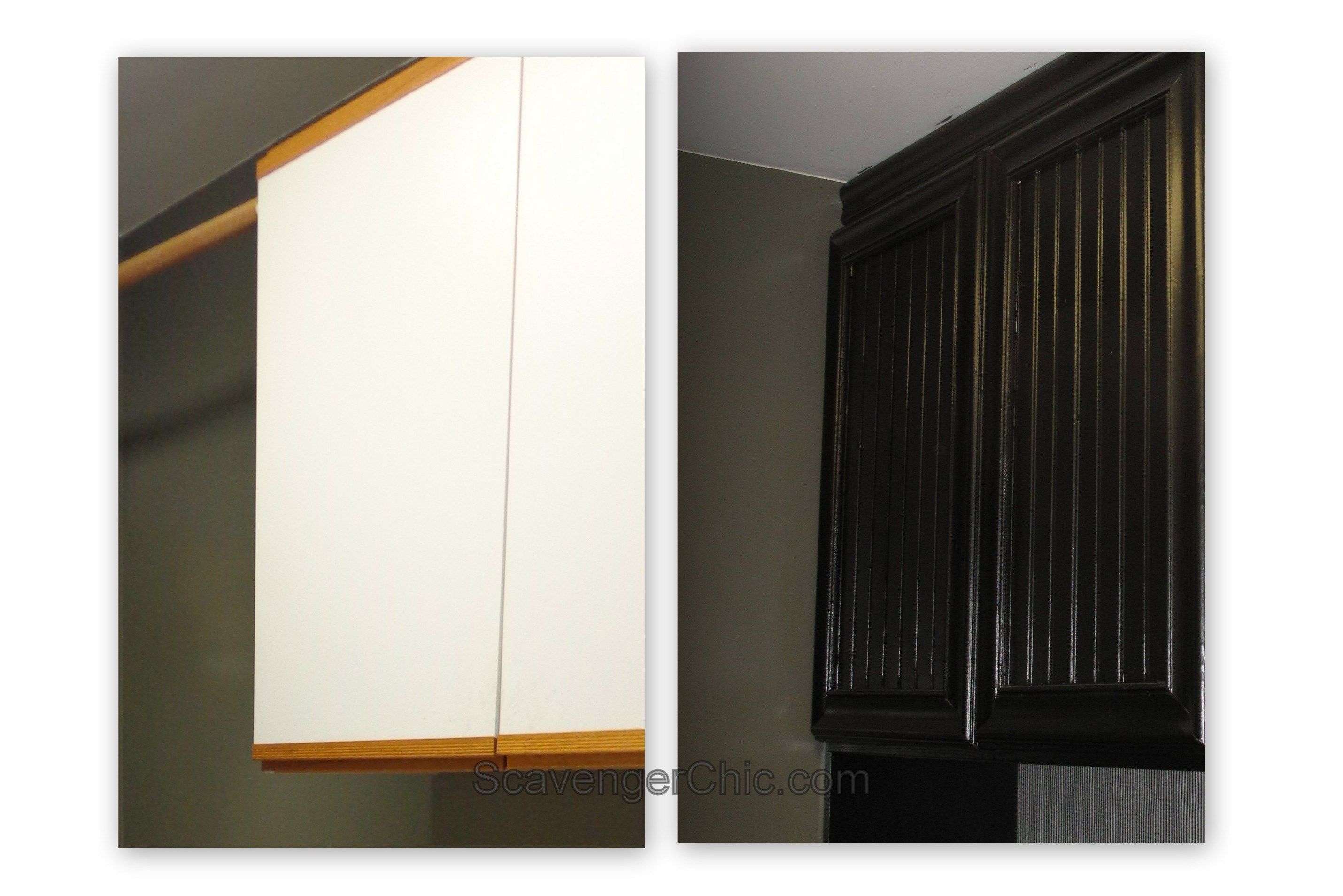 Laminate Kitchen Cabinets With Oak Trim Oak And Laminate Cabinet Refacing Makeover Magic