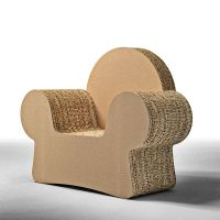 Design armchair made of cardboard, with armrests MICKEY ...