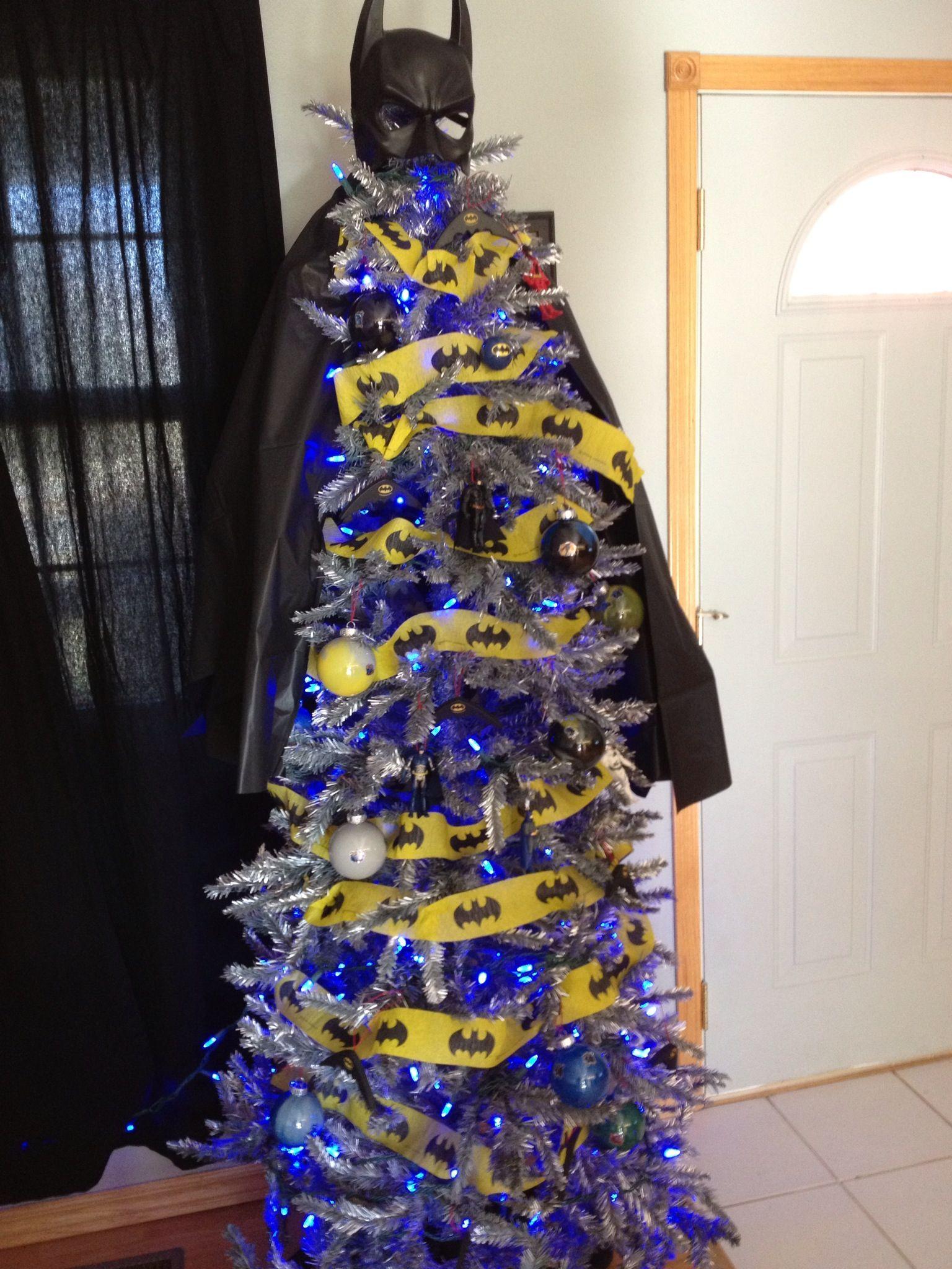 Christmas tree decorated like batman batman christmas tree batman how david whitfield wanted to