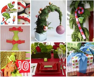 4 Unexpected holiday party tablescapes Grinch, Grinch stole - dr seuss christmas decorations
