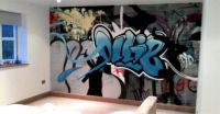 kids bedroom, graffiti idea | Graffiti Wall Design ...