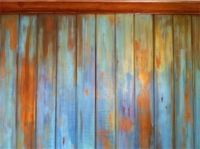 Distressed and weathered chalk painted wall / paneling by ...