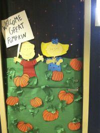 DIY Halloween Door decoration that was on a college dorm ...