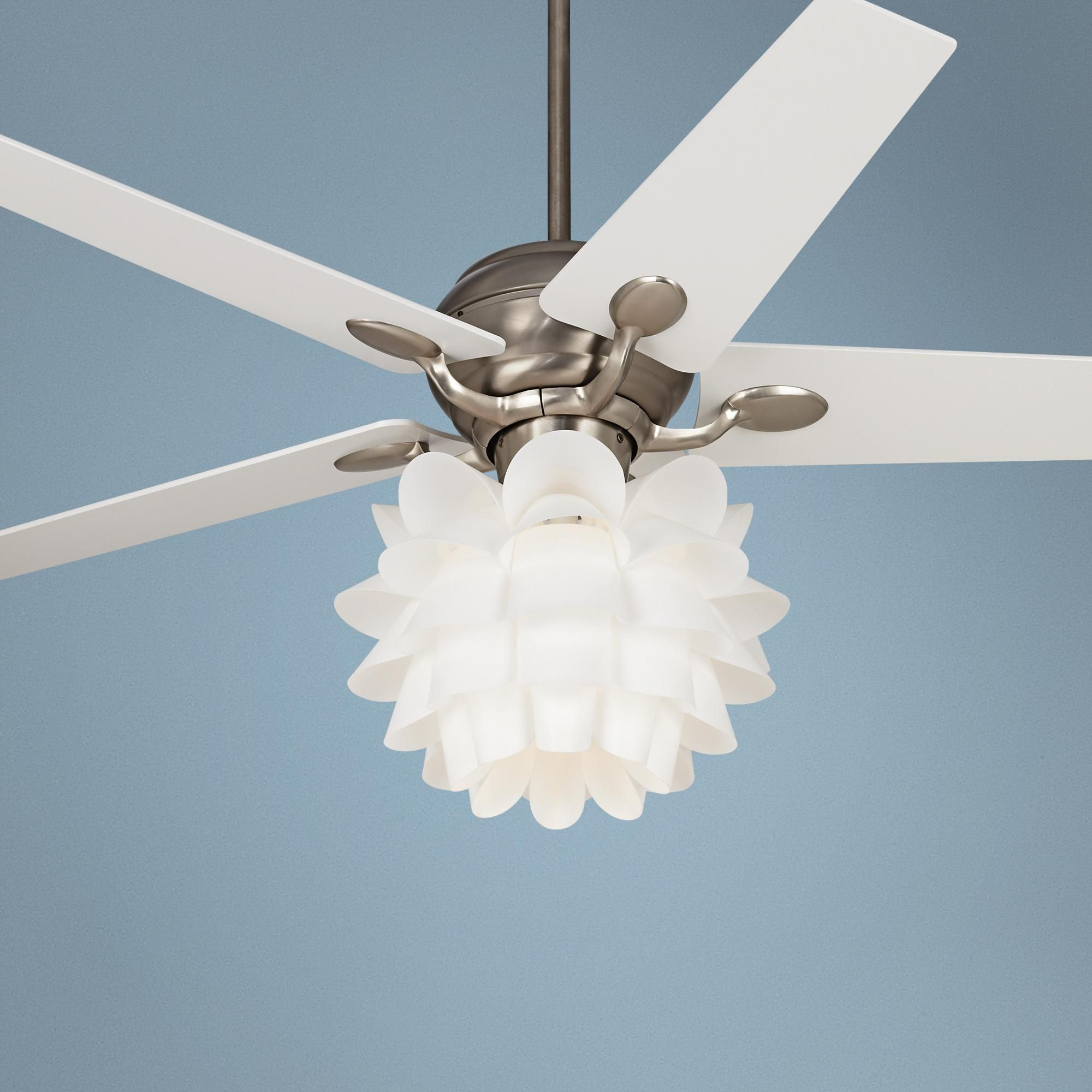 White Flower Ceiling Fan 52 Quot Casa Optima White Flower Ceiling Fan Flower Ceiling