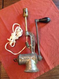 Antique Meat Grinder Lamp Light Fixture Steam Punk Vintage ...