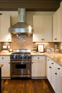 country kitchen backsplashes | ... Kitchen With Small ...