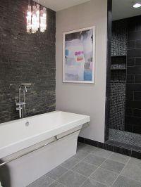 No door to shower, raised floor, recessed lighting, built ...