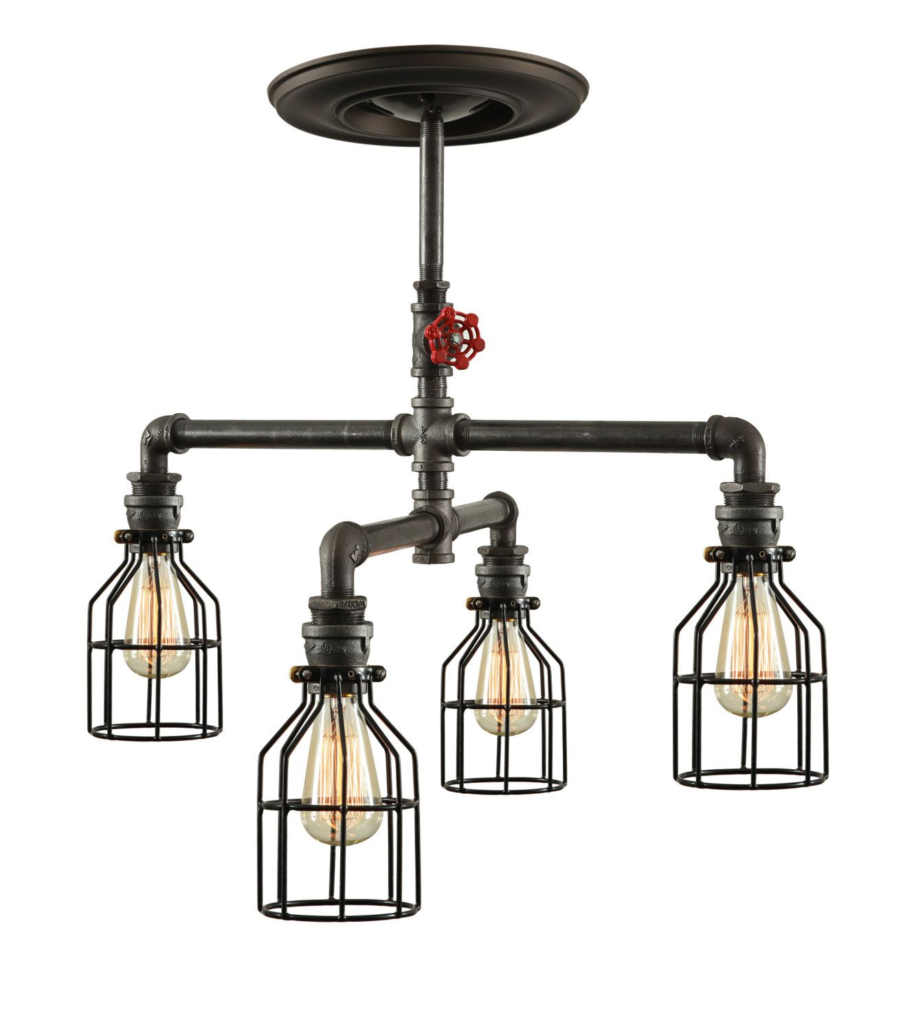 Pipe Light Fixtures Steampunk Industrial Ceiling Light Industrial Pipe Light