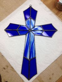 Stained glass cross by AcrossTheTable on Etsy | Stained ...