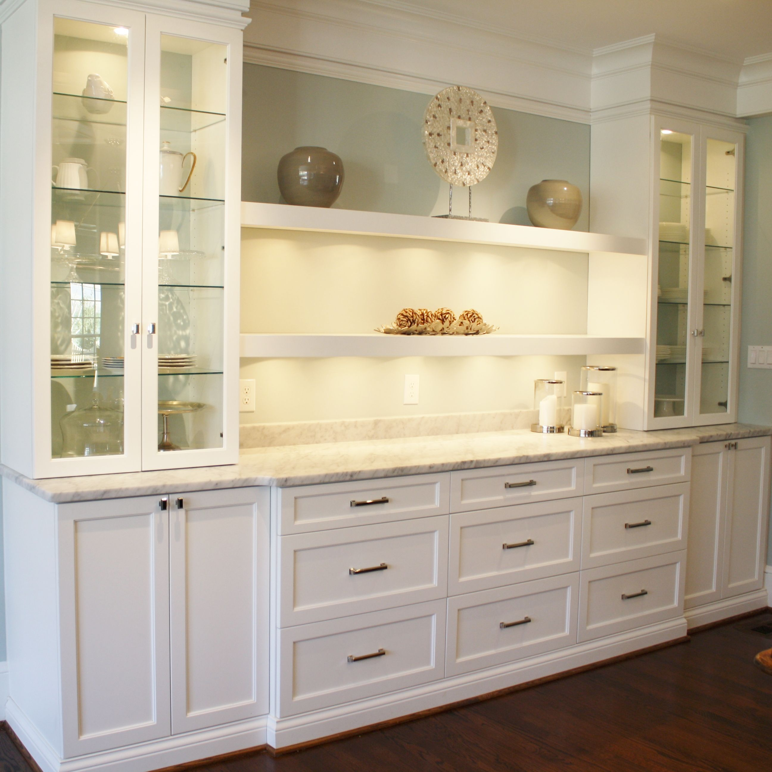 Kitchen Cabinet Buffet Ideas #kitchen #breakfast #bar #buffet Gorgeous Custom Breakfast