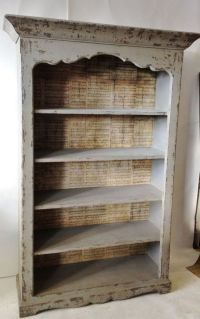 Furniture: Modern Backless Distressed Bookcase | Decor ...