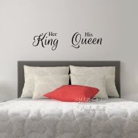 Her King His Queen Quote Wall Sticker Love Quote Wall ...