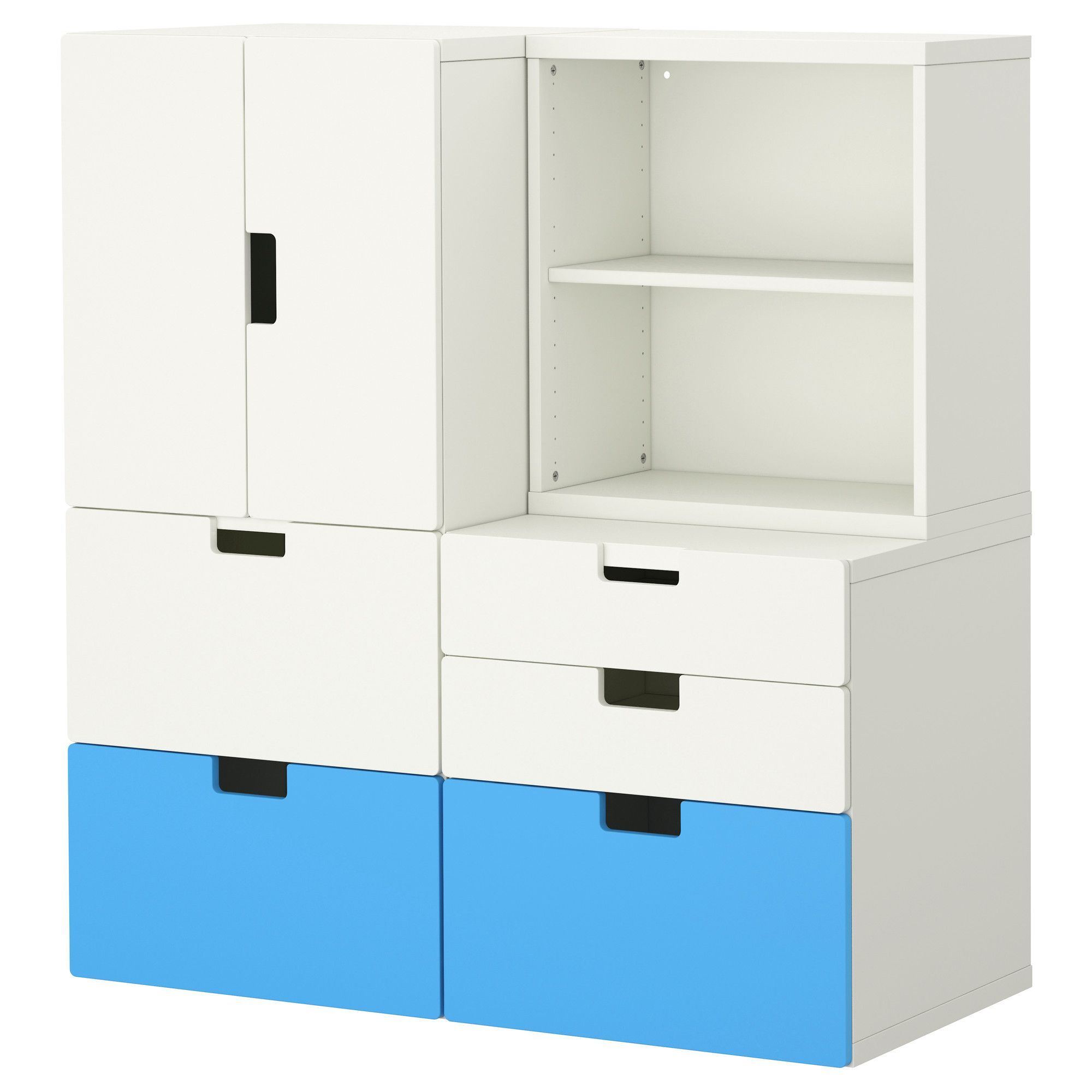 Ikea System Stuva Storage Combination W Doors Drawers Ikea Office