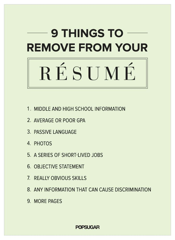 9 things to remove from your rsum right now resume review building my resume