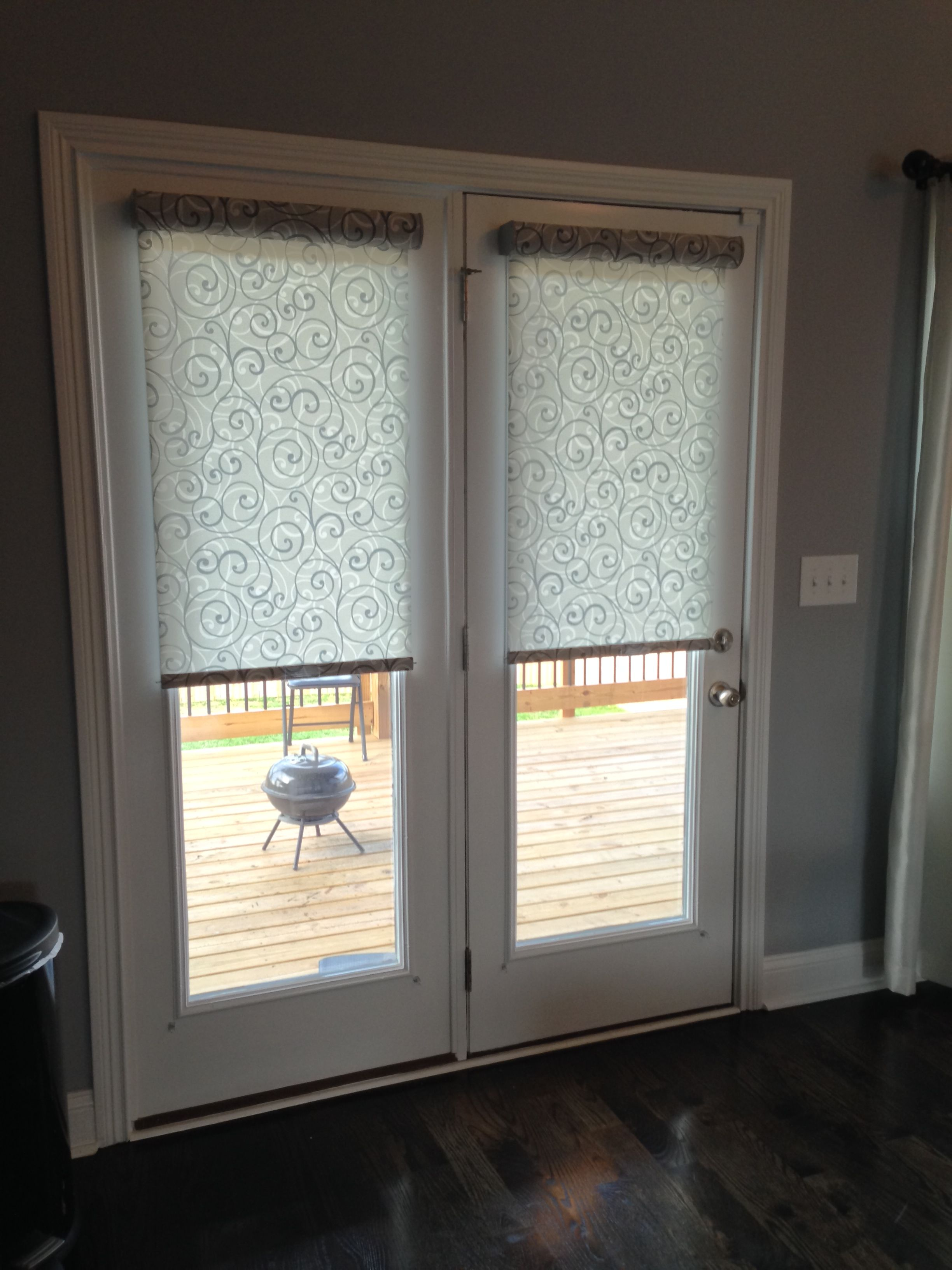 Diy Roman Shades For French Doors Roller Shades Ideas For The French Doors Pinterest