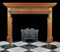 Antique carved Wood Georgian Fireplace Mantel | House ...