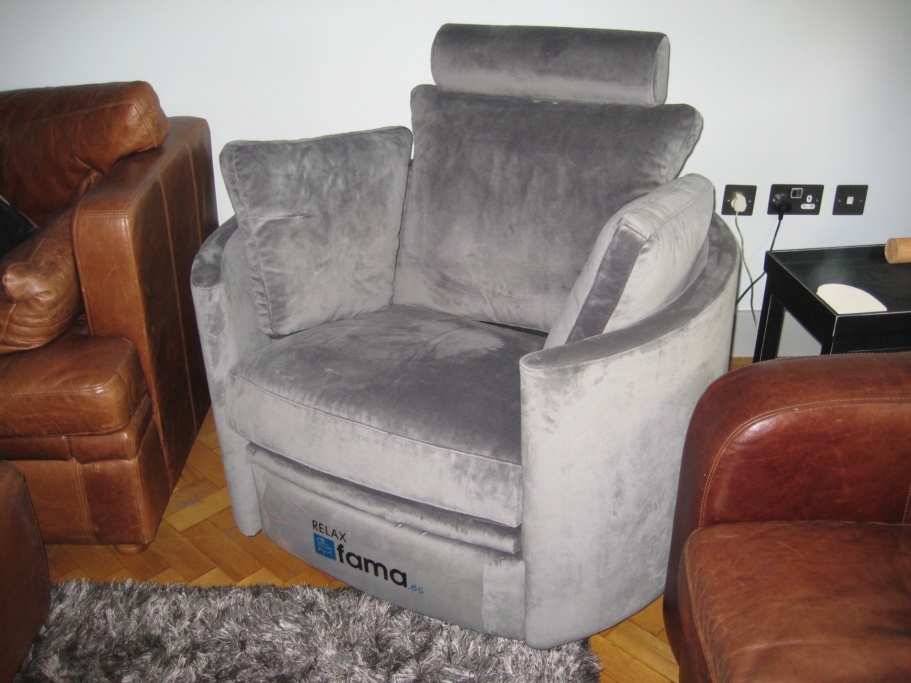 Leather Recliner Chairs David Jones A Lovely Soft Grey Fabric Linwood Omega Velvet Moonbeam