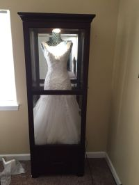 """Shadow box"" for wedding dress. Get a china cabinet and ..."