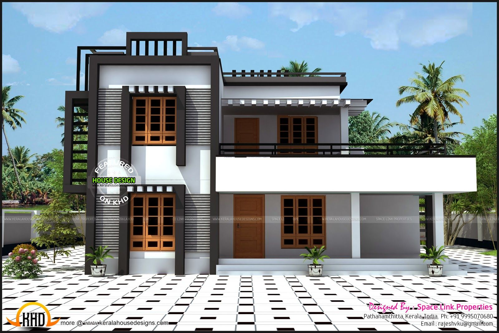Box type house kerala home design and floor plans irish mod youtube