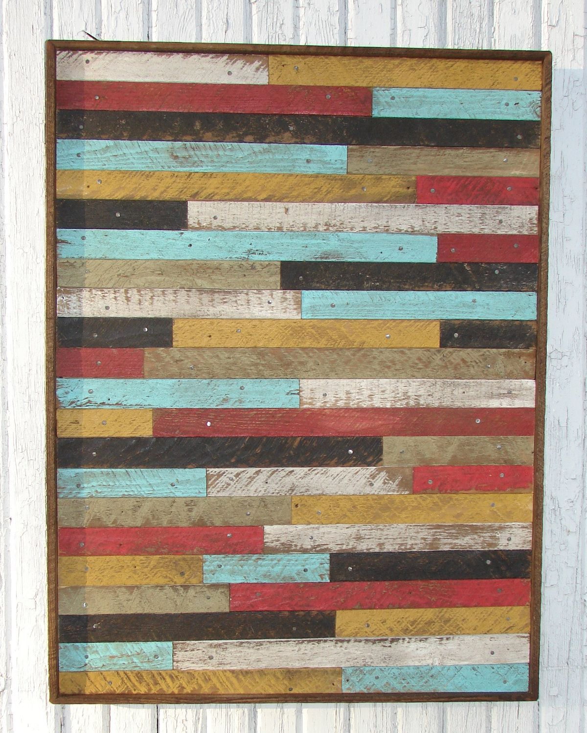 Barn Wood Art Ideas Large Pottery Barn Style Inspired Reclaimed Wood Lathe