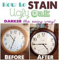 How to Stain UGLY Oak Wood Darker {easily}   Dark, Woods ...