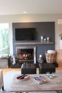 Off Center Fireplace Extend Wall To Hearth - Living Room ...