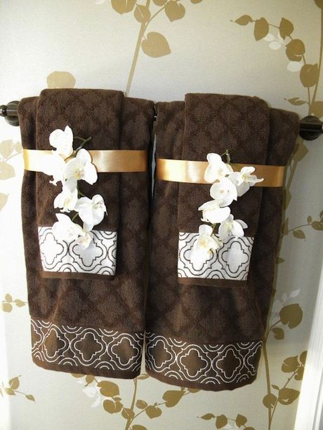 Sew decorative trim to your towels and add coordinating decorative - decorative towels for bathroom ideas
