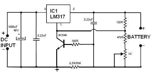 controlled scr battery charger schematics scr battery