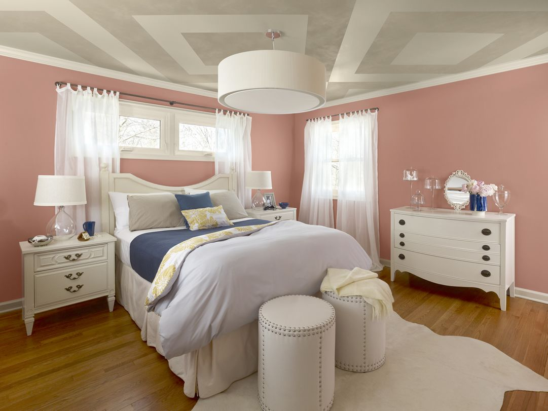 Dusty Pink Bedroom New Traditional Bedroom 1 Walls Dusty Mauve 2174 40