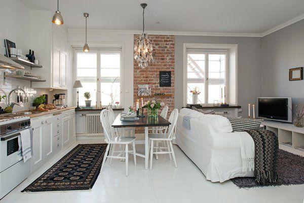 Kleine wohnküche ideen hilfreiche Hinweise Pinterest - wohnkuche ideen