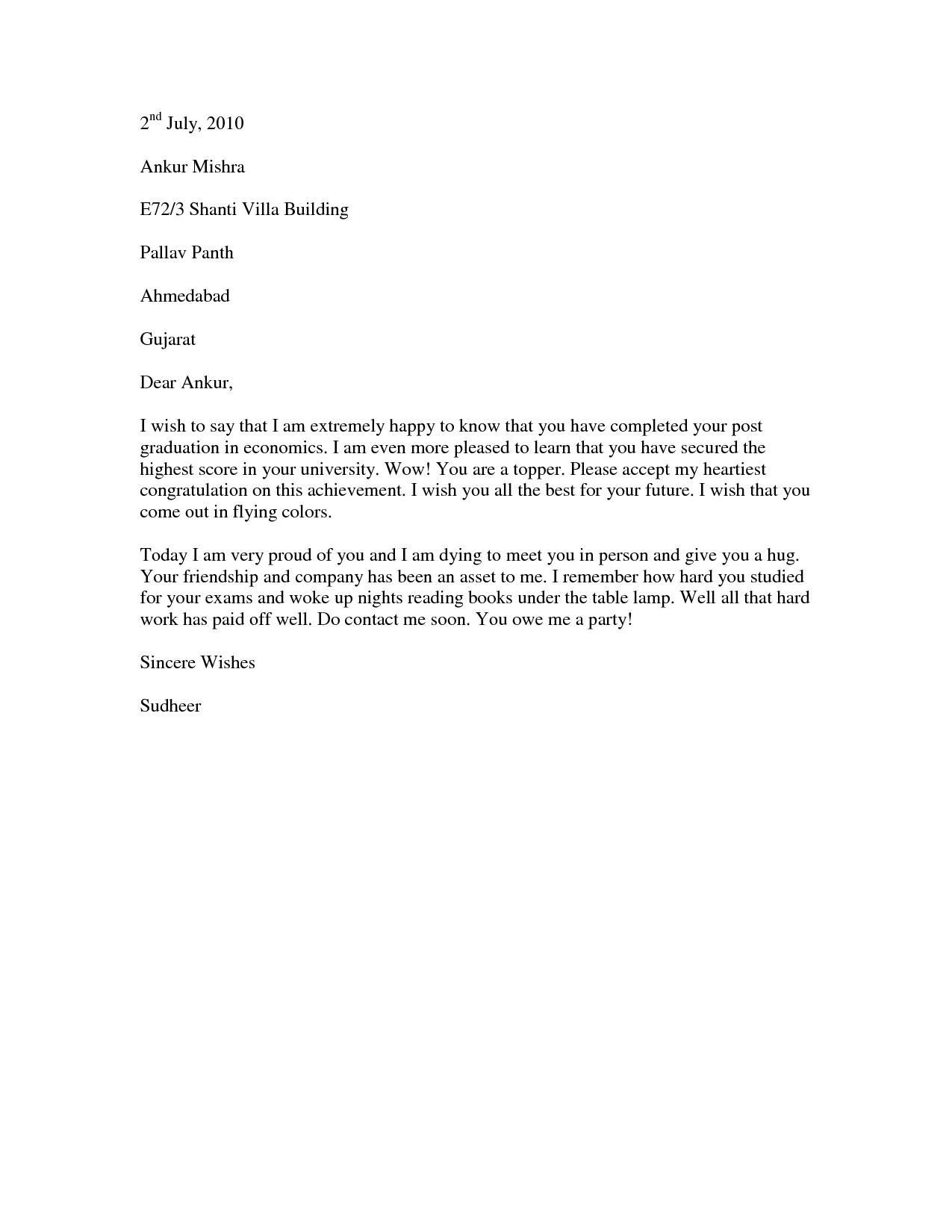 congratulation letter for new job