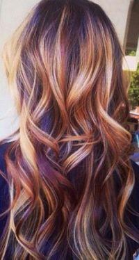 Multi highlighted hair | Hair Color | Pinterest ...