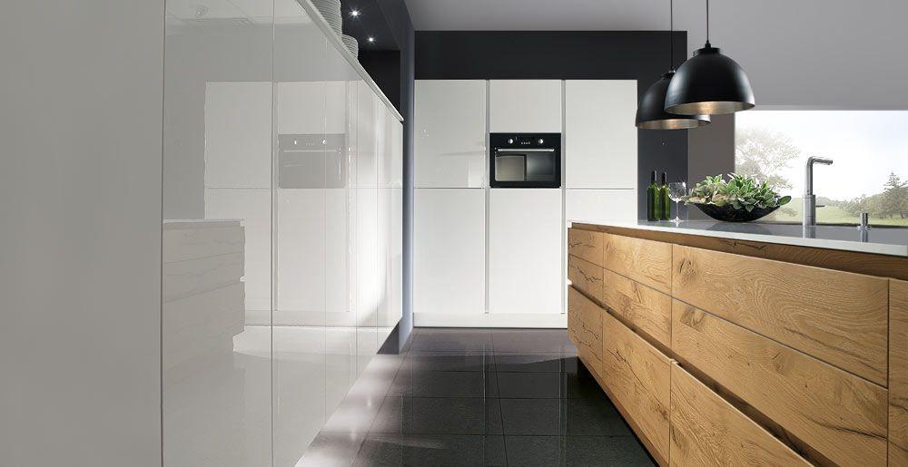 Schröder Küchen Küche massivholz Luce GLX bianco Küchen - moderne schroder kuchen