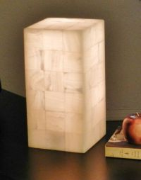 Natural Stone Lamp Onyx/alabaster White rock by ...