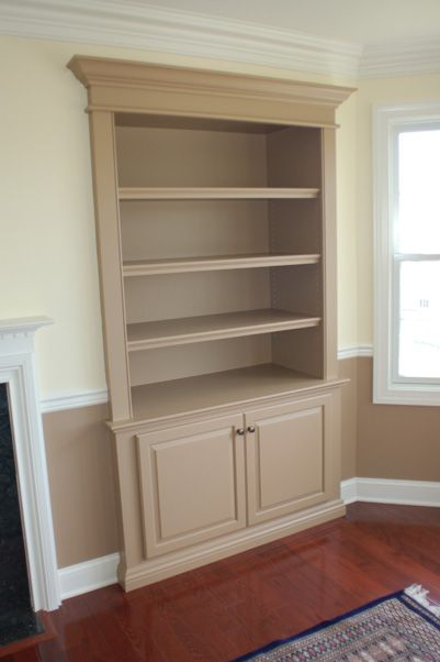 Custom Wall Unit Bookcases Recessed Into Wall Built Ins